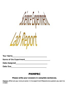 Science Experiment Lab Report