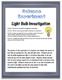 Science Experiment- Light Bulb Efficiency and the Scientific Method