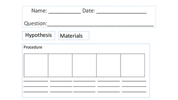 Science Experiment Notebook Template