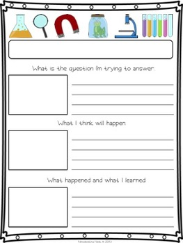 Science Experiment Writing Pages