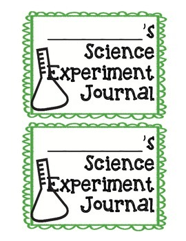 Science Experiment Observation Journal