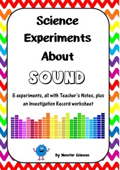 Science Experiment Pack about Sound Waves