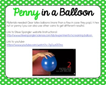 Science Experiment Packet