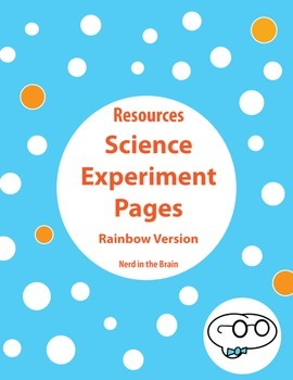 Science Experiment Pages - Colorful Version