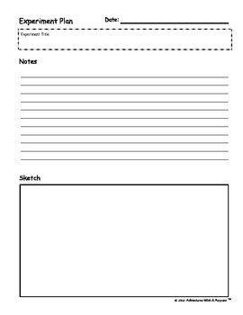 Science Experiment Planning and Observation Worksheets