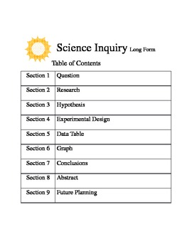 Science Experimental Method Forms (Editable long version)