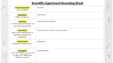 Science Experiment Recording Sheet