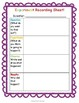 Science Experiment Recording Worksheet: Scientific Method Chart