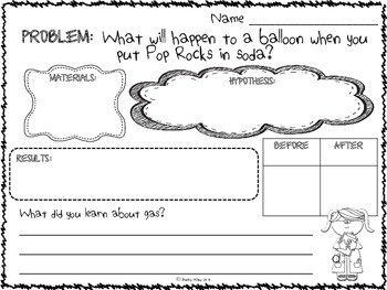 Science Experiment Recording Sheets