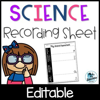 Science Experiment Recording Sheets {Scientific Method}
