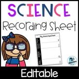 Science Experiment Recording Sheets {Scientific Method}