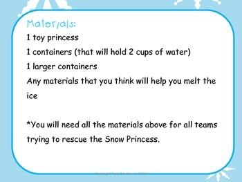 Science Experiment: Rescue the Snow Princess
