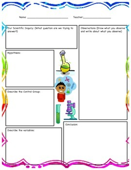 Science Experiment Single Observation Worksheet