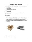 Science Experiment Worksheet- Density