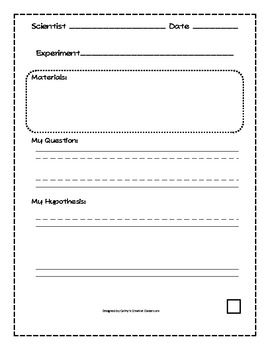 science experiment worksheets by cathy 39 s creative classroom tpt. Black Bedroom Furniture Sets. Home Design Ideas