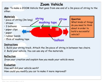 Science Experiment - Zoom Vehicle