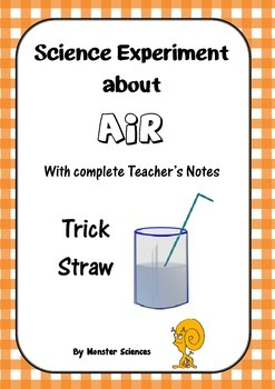Science Experiment about Air - Trick Straw