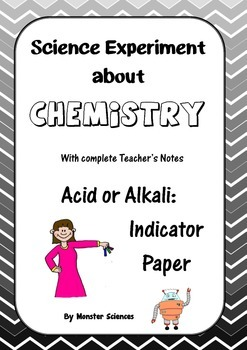 Science Experiment about Chemistry - Acid or Alkali:  Make indicator paper