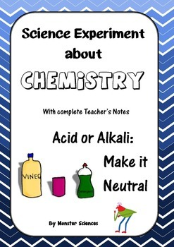 Science Experiment about Chemistry - Acid or Alkali:  Make it Neutral