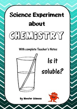 Science Experiment about Chemistry - Is it soluble?