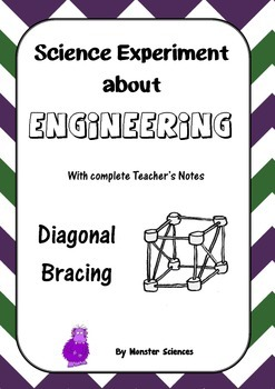 Science Experiment about Engineering - Diagonal Bracing