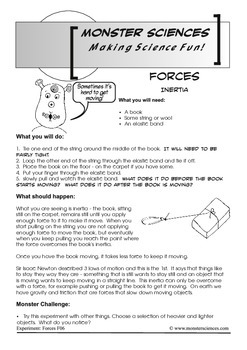 Science Experiment about Gravity - Inertia