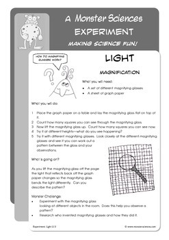 Science Experiment about Light - Magnifying Shadows