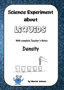 Science Experiment about Liquids - Rainbow Density Straws