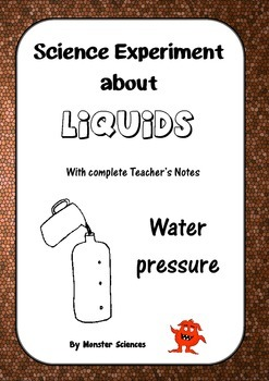 Science Experiment about Liquids - Water Pressure