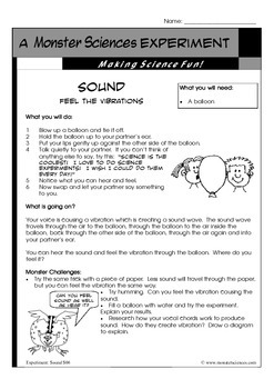 Science Experiment about Sound: Feel the vibration