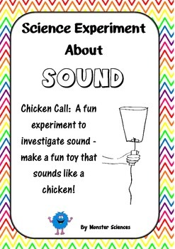 Science Experiment about Sound:  Make a Chicken Call