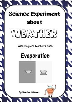 Science Experiment about Weather - Evaporation