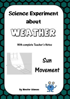 Science Experiment about Weather - Follow the sun's movement