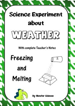 Science Experiment about Weather - Freezing and Melting