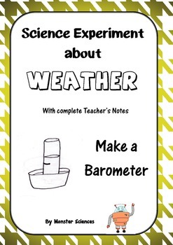 Science Experiment about Weather - Make a Barometer to measure air pressure