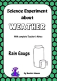 Science Experiment about Weather - Make a Rain Gauge