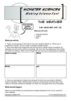 Science Experiment about Weather - The Effects of Weather