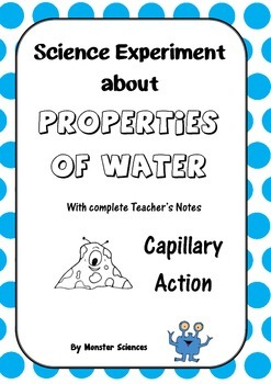 Science Experiment about the Properties of Water - Capillary Action