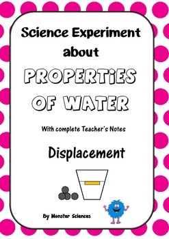 Science Experiment about the Properties of Water - Displacement