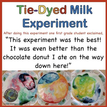 Science Experiment for Primary Grades: Tie-Dyed Milk