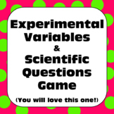 Scientific Method: Experimental Variables and Scientific Questions Game