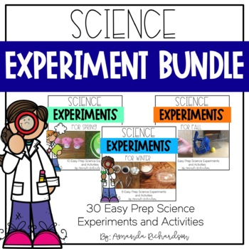 First Grade Science Experiments Bundle