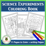 Science Experiments Coloring Book + Writing Papers