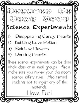 Science Experiments - Falling in Love with Science