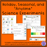 Science Experiments Holiday, Seasonal, Anytime for Special Education