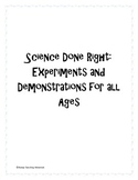 Science Experiments and Demos Bundle for Every Age