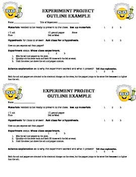 Science Experiments by Students