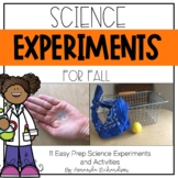 Science Experiments for Fall