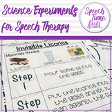 Science Experiments for Speech Therapy