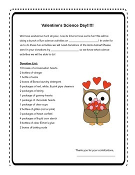 Science Experiments for Valentine's Day